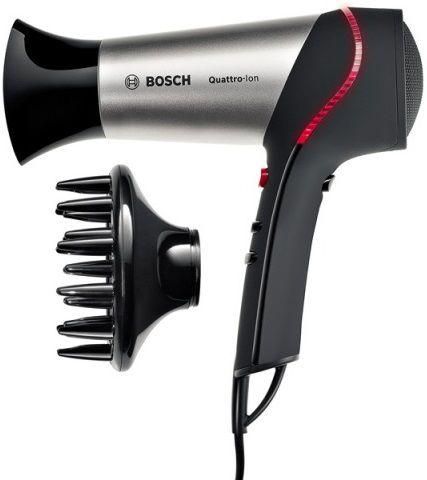 Фен BOSCH PHD5767, 2000Вт, черный и серебристый