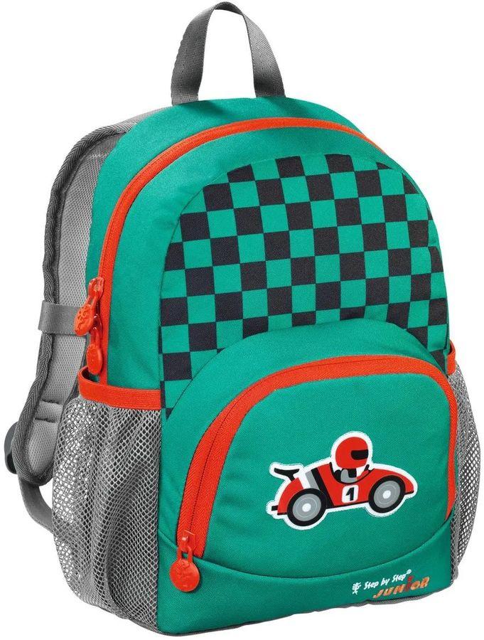 Рюкзак детский Step By Step Junior Dressy little racer зеленый/серый гонщик [00138410]