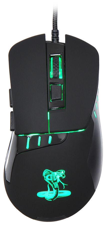 Мышь OKLICK 865G Snake оптическая проводная USB, черный и черный [gm-26 black]