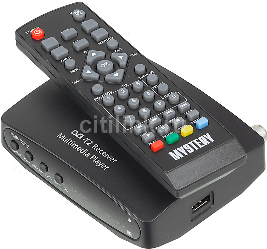 Ресивер DVB-T MYSTERY MMP-72DT2,  черный