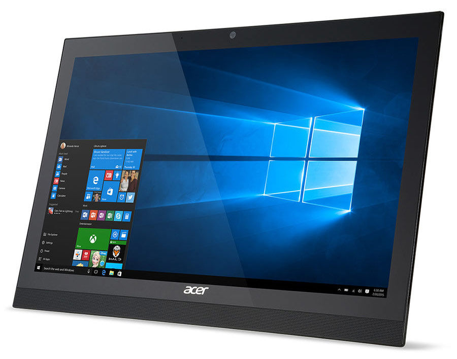 Моноблок ACER Aspire Z1-622, Intel Pentium N3710, 2Гб, 500Гб, Intel HD Graphics 405, DVD-RW, Windows 10, черный [dq.b5fer.002]