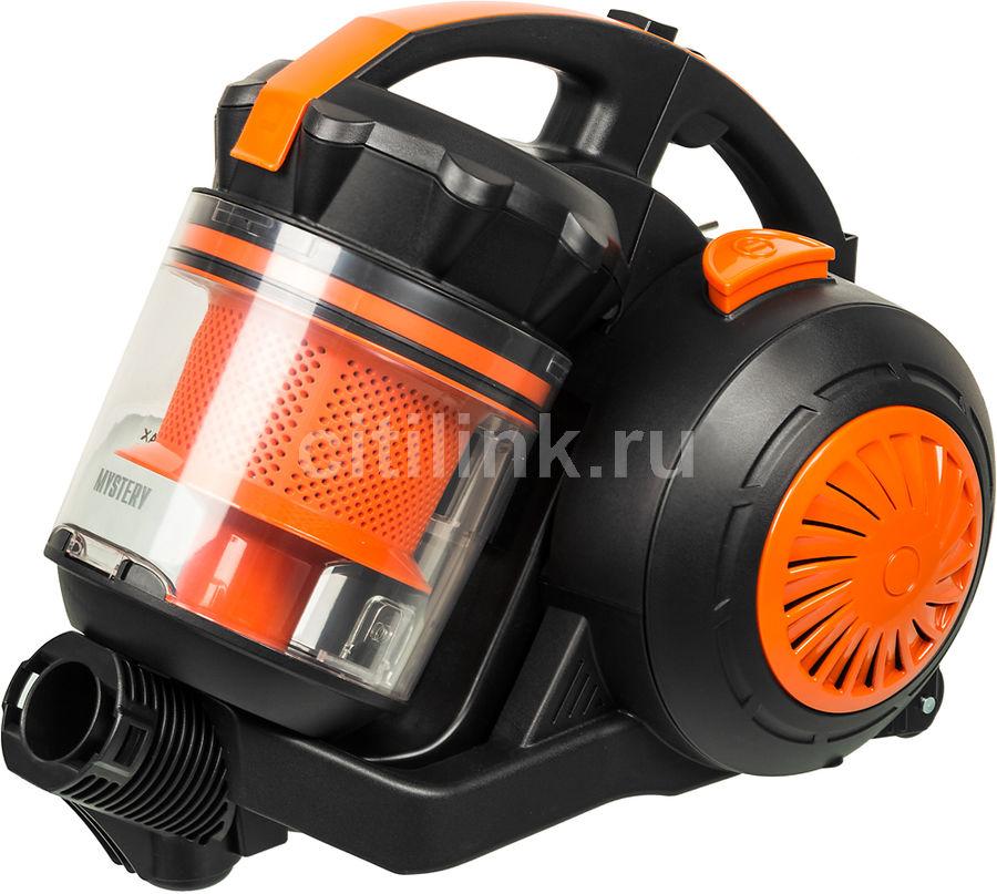Пылесос MYSTERY MVC-1124, 2000Вт, черный/оранжевый