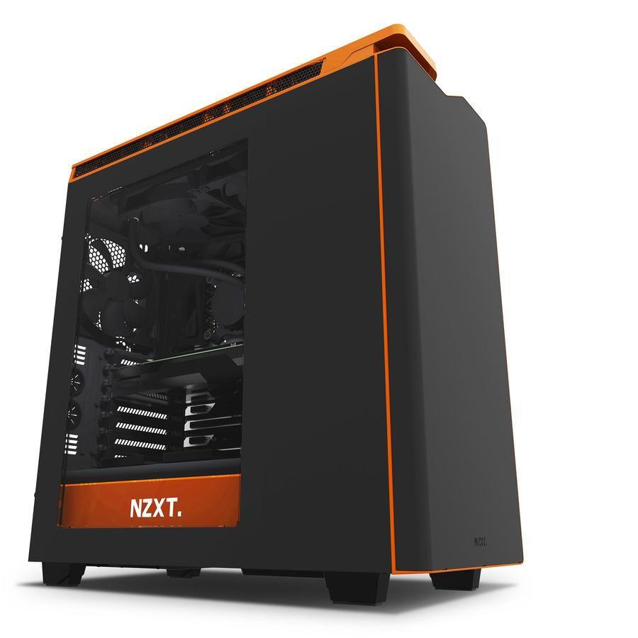 Корпус ATX NZXT H440, Midi-Tower, без БП,  черный и оранжевый