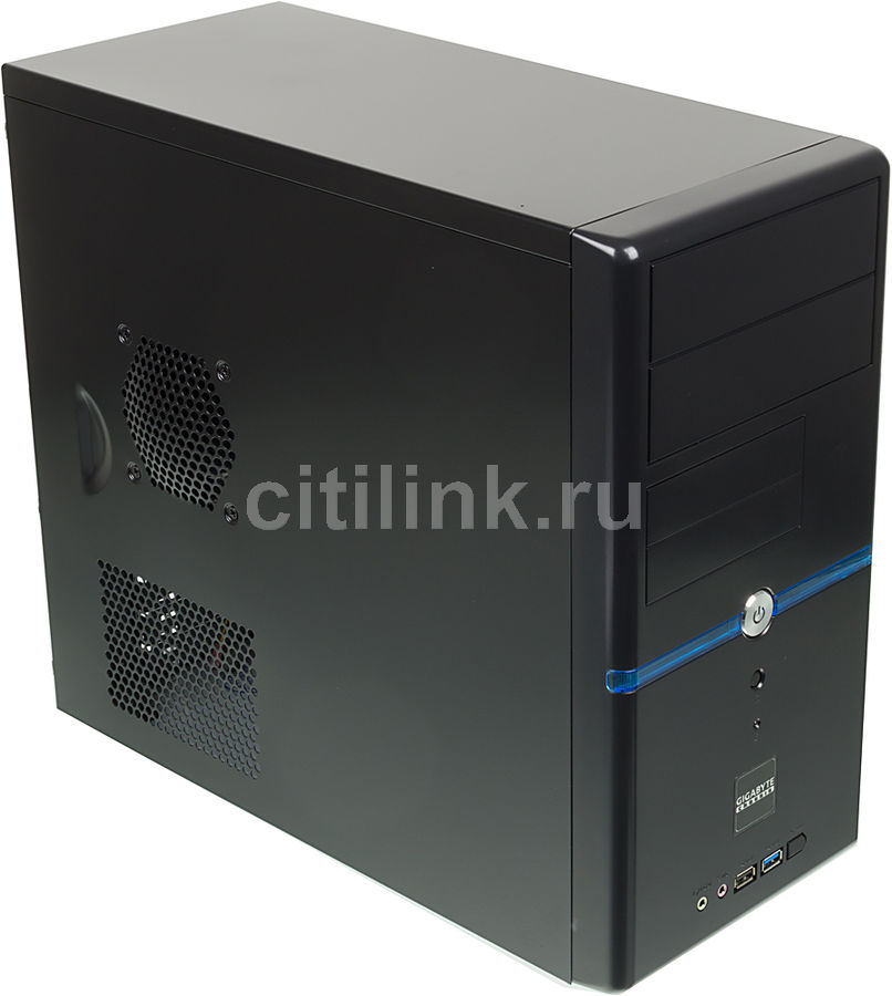 Корпус mATX GIGABYTE GZ-M2, Mini-Tower, без БП, черный