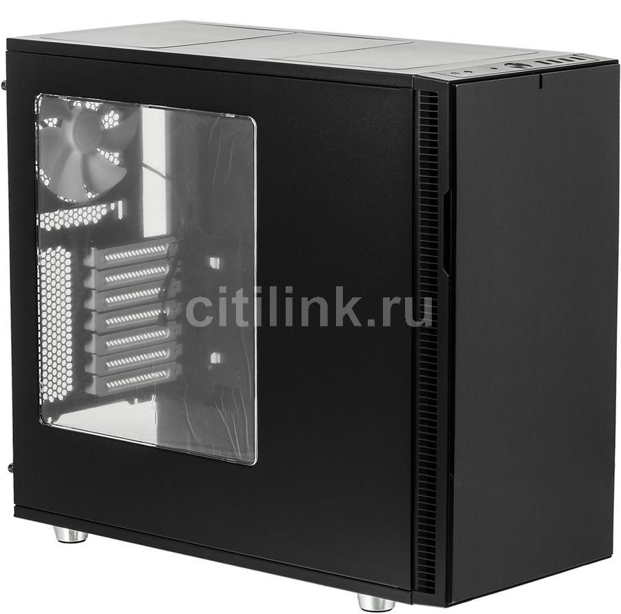 Корпус ATX FRACTAL DESIGN Define R5 Titanium Window, Midi-Tower, без БП,  черный и серебристый