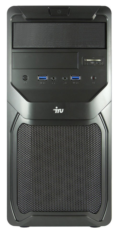 Компьютер  IRU Office 311,  Intel  Core i3  4160,  DDR3 4Гб, 500Гб,  Intel HD Graphics 4400,  CR,  Free DOS,  черный [371857]