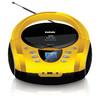 Аудиомагнитола BBK BX165BT,  желтый и черный вид 1
