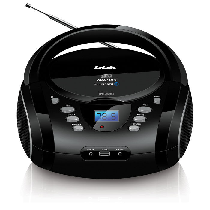 Аудиомагнитола BBK BX165BT,  черный