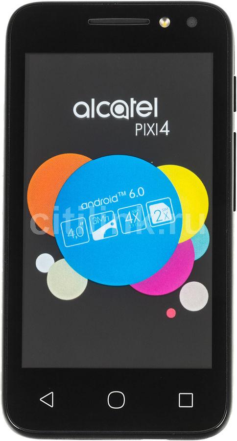 Смартфон ALCATEL Pixi 4 4034D,  черный