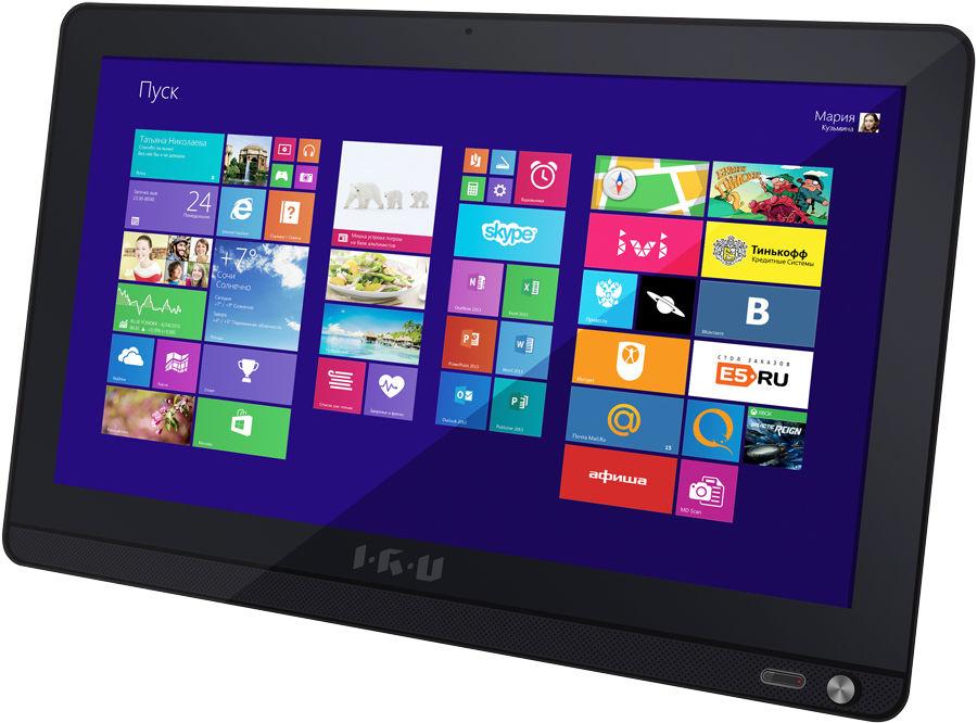 Моноблок IRU Office L1901, Intel Celeron N2840, 2Гб, 500Гб, Intel HD Graphics, DVD-RW, Windows 10 Home, черный [372437]