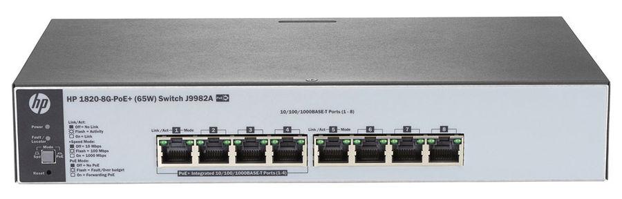 Коммутатор HPE 1820-8G-PoE+, J9982A
