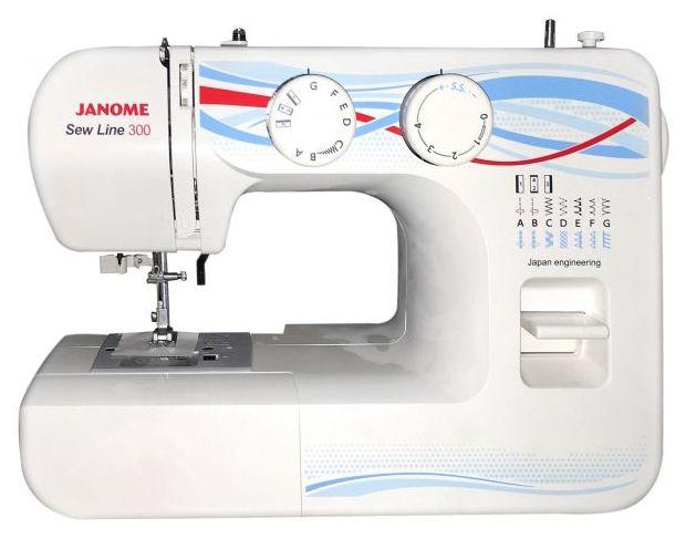 Швейная машина JANOME Sew Line 300 белый