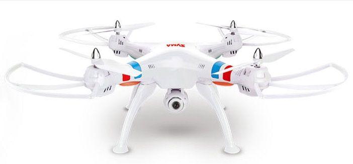 Квадрокоптер SYMA X8C с камерой,  белый