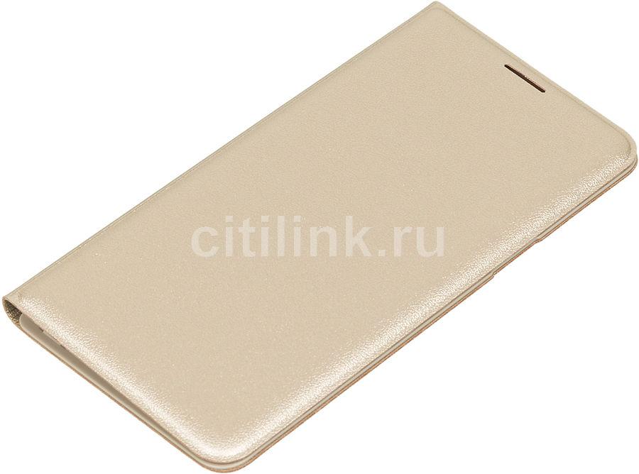 Чехол (флип-кейс) SAMSUNG Flip Wallet, для Samsung Galaxy J5 (2016), золотистый [ef-wj510pfegru]