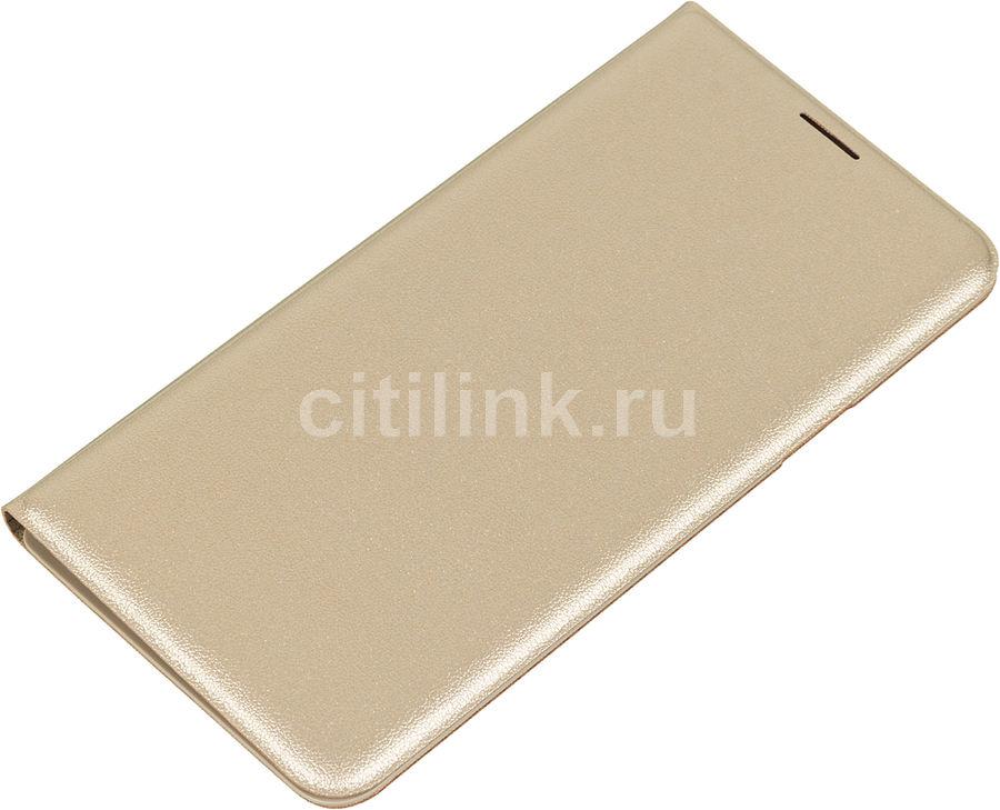 Чехол (флип-кейс) SAMSUNG Flip Wallet, для Samsung Galaxy J7 (2016), золотистый [ef-wj710pfegru]