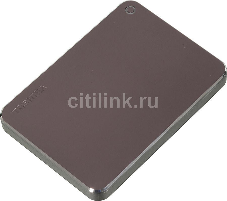 Внешний жесткий диск TOSHIBA Canvio Premium for Mac HDTW110EBMAA, 1Тб, темно-серый