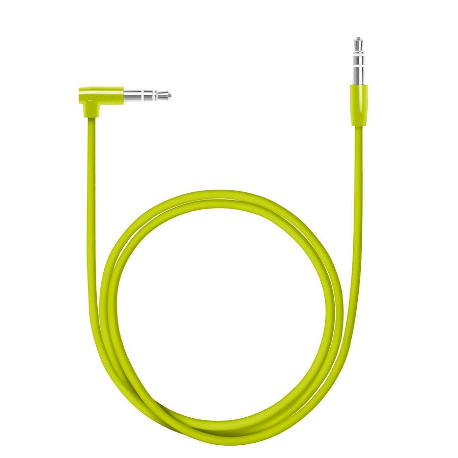 Кабель аудио DEPPA AUX Slim,  Jack 3.5 (m)  -  Jack 3.5 (m)  (Г-образный),  1.2м, зеленый [72196]