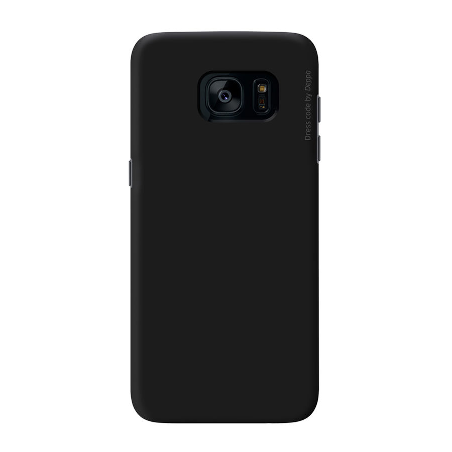 Чехол (флип-кейс) DEPPA Air Case, для Samsung Galaxy S7, черный [83238]