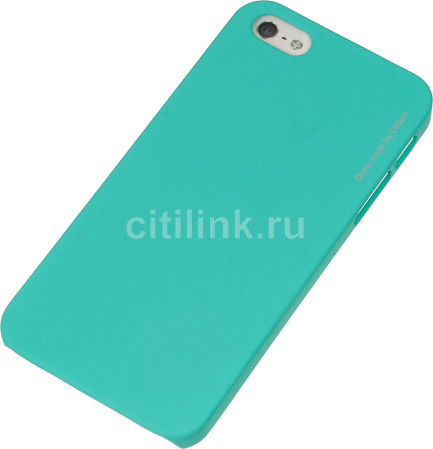 Чехол (флип-кейс) DEPPA Air Case, для Apple iPhone 5/5s/SE, мятный [83092]