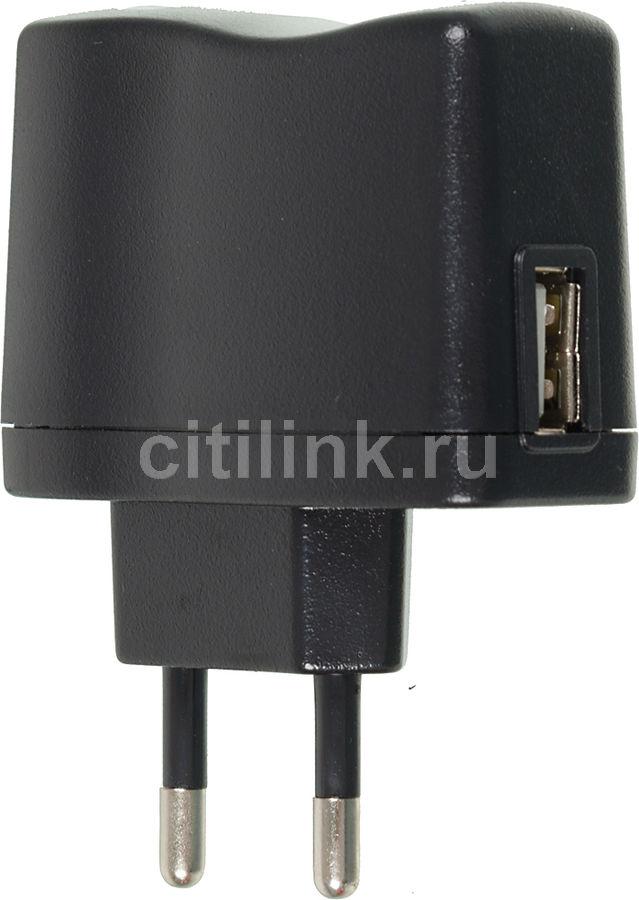 Сетевое зарядное устройство BURO XCJ-021-1A,  USB,  1A,  черный