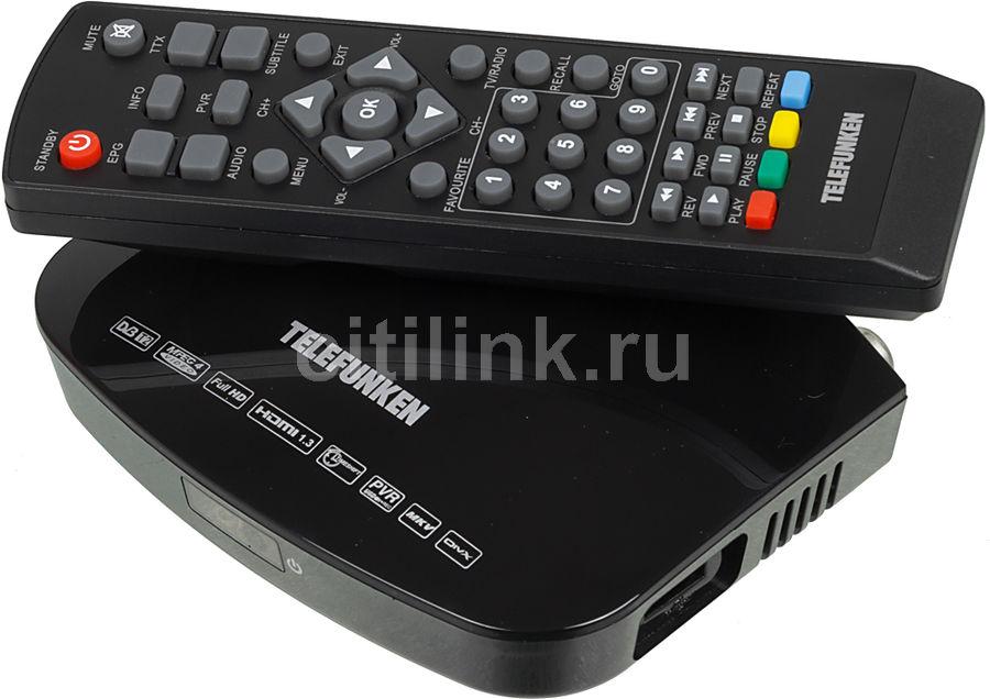 Ресивер DVB-T2 TELEFUNKEN TF-DVBT208,  черный [tf-dvbt208(черный)]