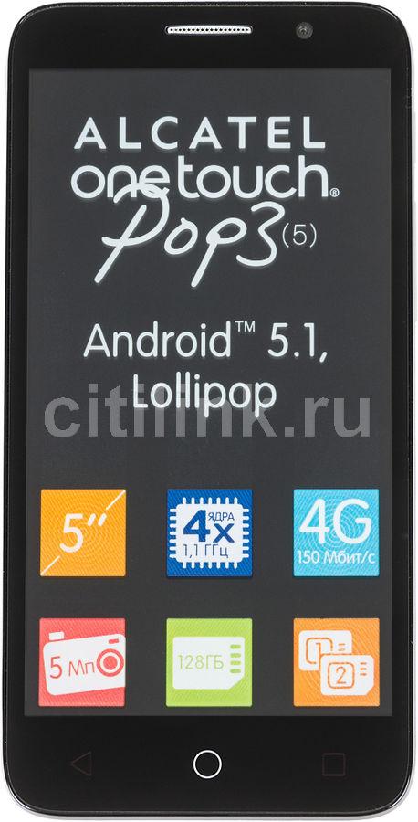 Смартфон ALCATEL Pop 3 5065D  серебристый/черный