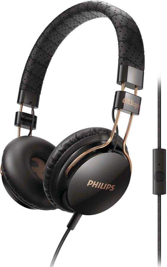 Наушники PHILIPS SHL5505BK/00, накладные,  черный, проводные