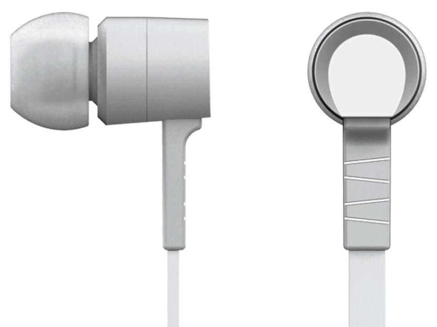 Наушники с микрофоном OKLICK HS-S-220, 3.5 мм, вкладыши, белый [d2]