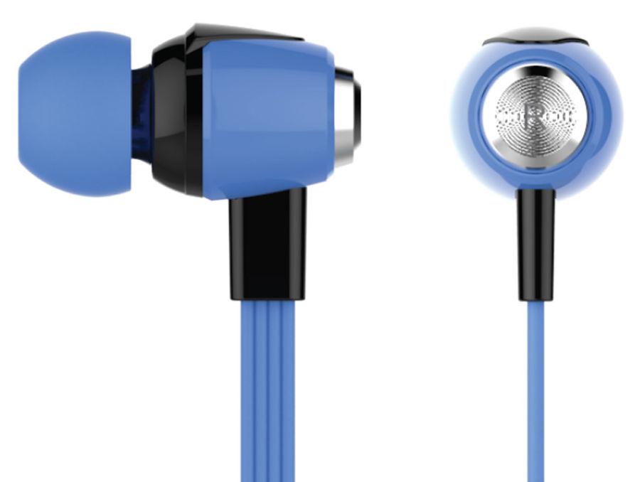 Наушники с микрофоном OKLICK HS-S-240, 3.5 мм, вкладыши, синий [s30]