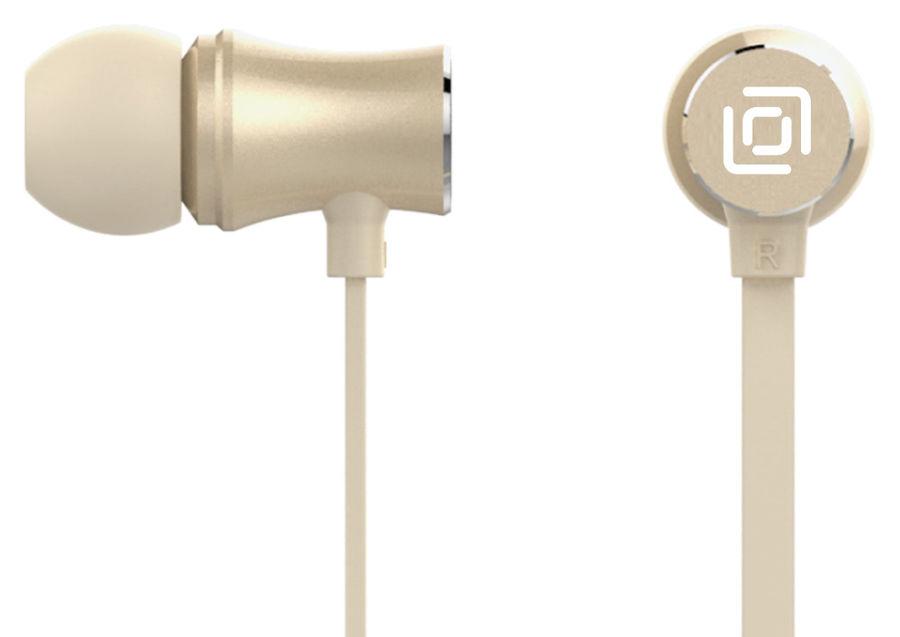 Наушники с микрофоном OKLICK HS-S-310, 3.5 мм, вкладыши, золотистый [d6]