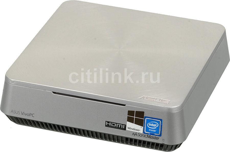 Неттоп  ASUS VivoPC VM42-S223Z,  Intel  Celeron  2957U,  DDR3 2Гб, 500Гб,  Intel HD Graphics,  CR,  Windows 10,  серебристый [90ms00b1-m02230]