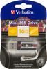Флешка USB VERBATIM Mini Cassette Edition 16Гб, USB2.0, черный и рисунок [49397] вид 1