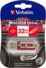 Флешка USB VERBATIM Mini Cassette Edition 32Гб, USB2.0, красный и рисунок [49392] вид 1