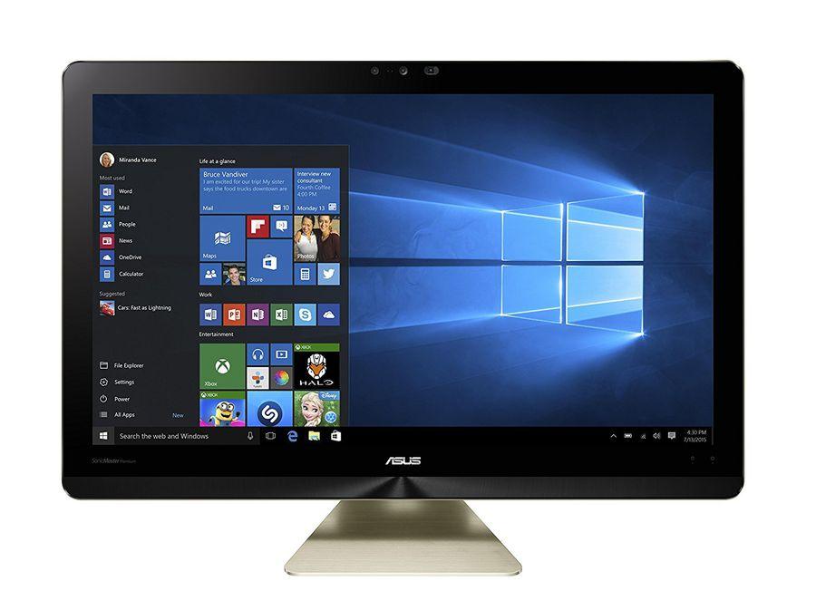 Моноблок ASUS Z220ICGK-GC064X, Intel Core i5 6400T, 8Гб, 1000Гб, 128Гб SSD,  nVIDIA GeForce GTX 960M - 2048 Мб, Windows 10, черный и золотистый [90pt01d1-m02240]
