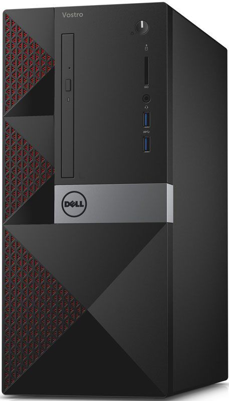 Компьютер  DELL Vostro 3650,  Intel  Core i3  6100,  DDR3 4Гб, 500Гб,  nVIDIA GeForce 705 - 2048 Мб,  DVD-RW,  CR,  Windows 10 Home,  черный [3650-0304]