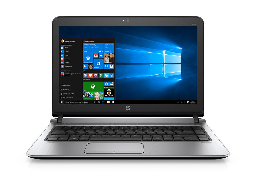 Ноутбук HP ProBook 430 G3, 13.3, Intel Core i7 6500U 2.5ГГц, 8Гб, 500Гб, Intel HD Graphics 520, Windows 7 Professional, черный [w4n77ea] ос windows 7 professional