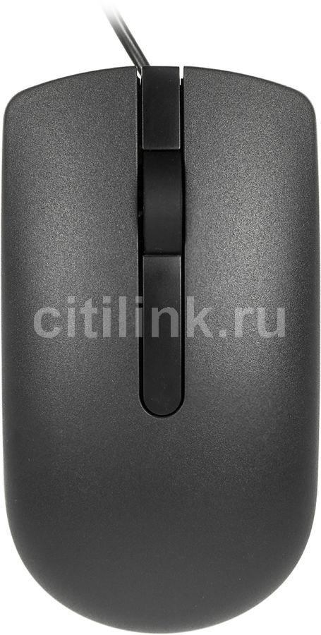 Мышь DELL MS116 RTL, оптическая, проводная, USB, черный [570-aair]