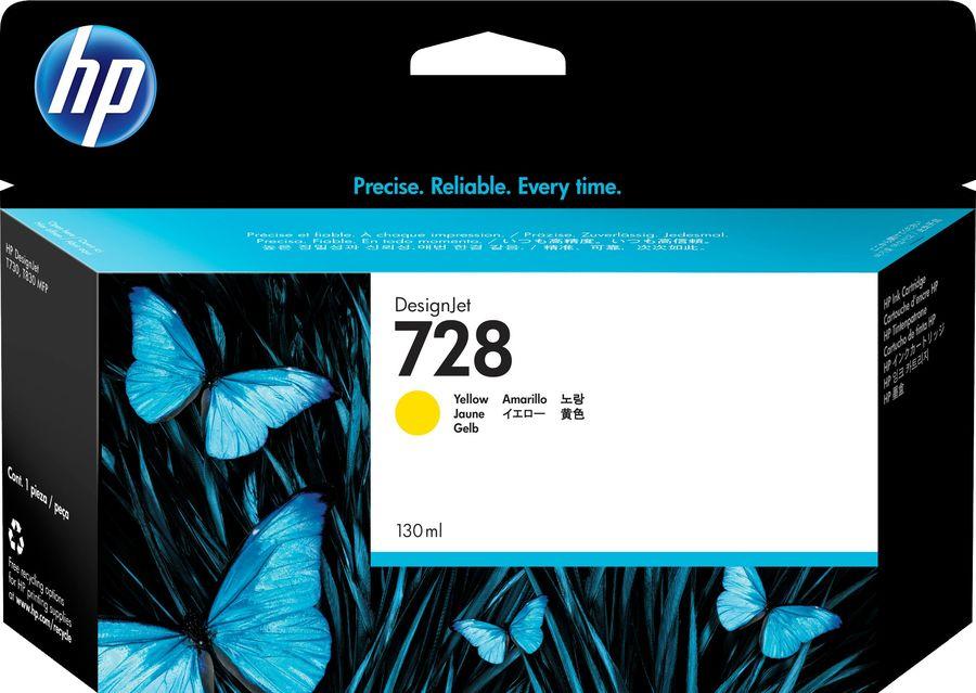 Картридж HP 728 F9J65A,  желтый