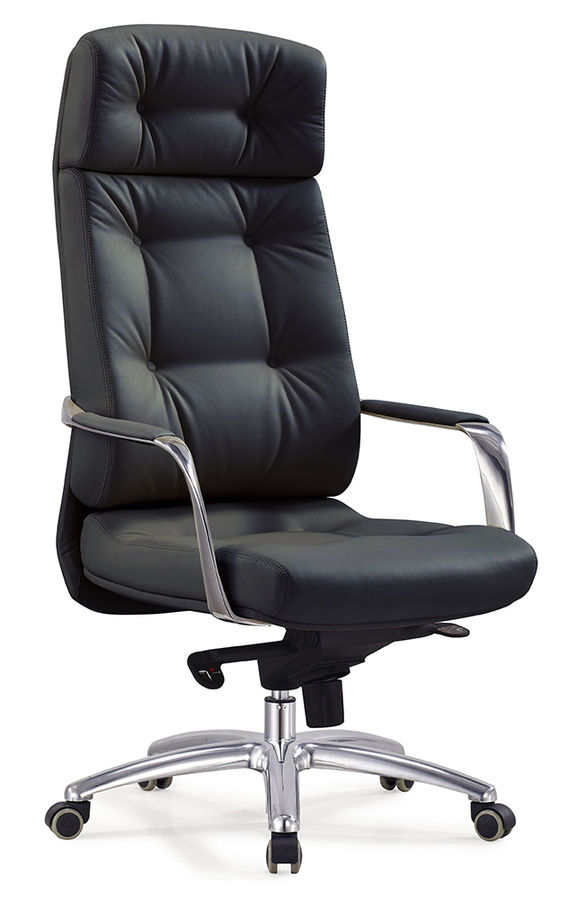 Кресло руководителя БЮРОКРАТ _Dao, на колесиках, кожа, черный [_dao/black]