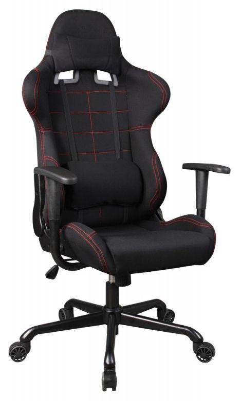Кресло игровое БЮРОКРАТ 771, на колесиках, ткань, черный [771/black+bl]