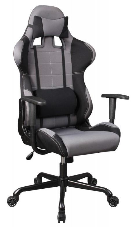 Кресло игровое БЮРОКРАТ 771, на колесиках, ткань, серый [771/grey+bl]
