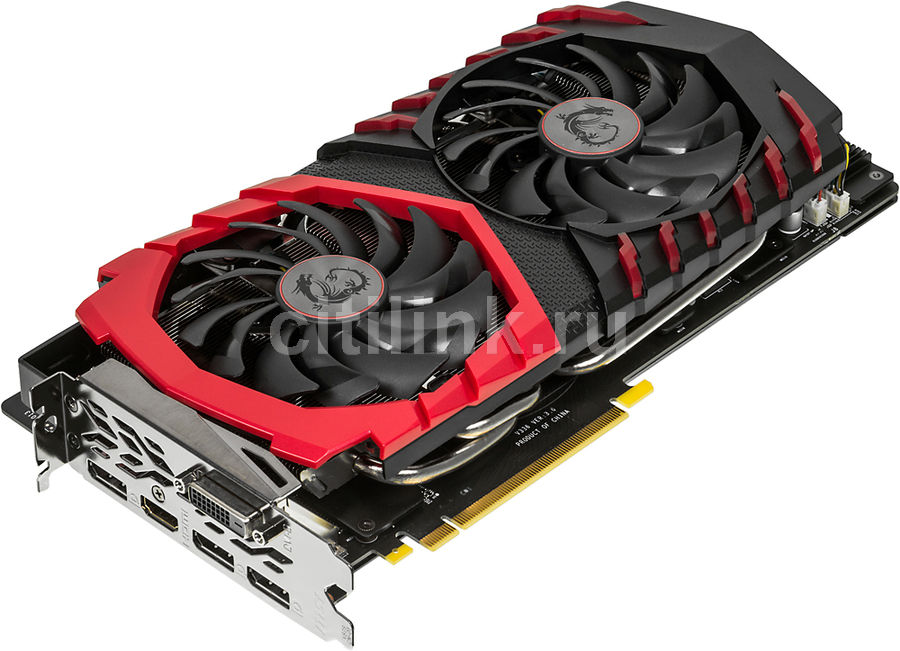 Видеокарта MSI GeForce GTX 1080,  GTX 1080 GAMING X 8G,  8Гб, GDDR5X, OC,  Ret