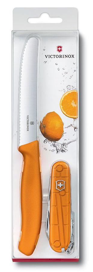 Набор ножей Victorinox Color Twins (1.8901.L9) компл.:2шт оранжевый европодвес
