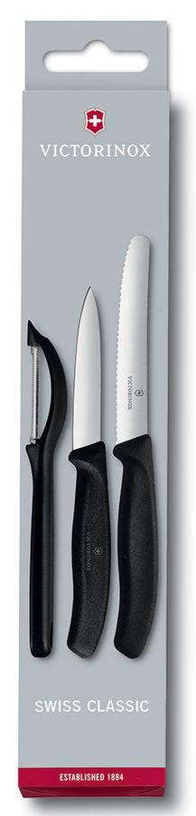 Набор ножей кухон. Victorinox Swiss Classic Paring (6.7113.31) компл.:3шт черный карт.коробка