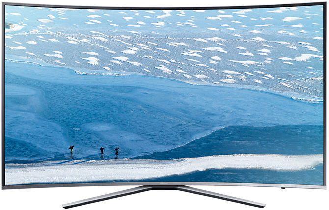 "LED телевизор SAMSUNG UE55KU6500UXRU  ""R"", 55"", Ultra HD 4K (2160p),  серебристый"