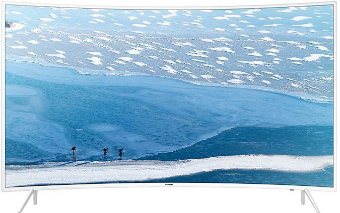 LED телевизор SAMSUNG UE55KU6510UXRU «R», белый. Доставка по России
