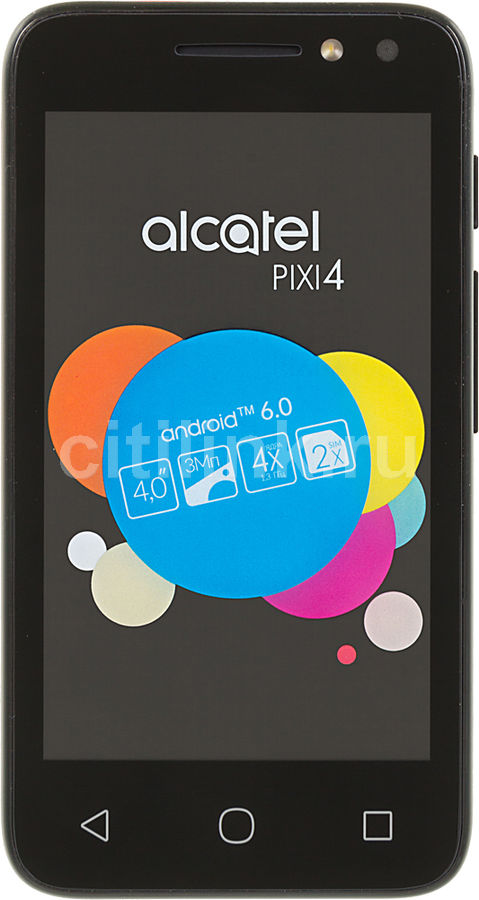 Смартфон ALCATEL Pixi 4 4034D,  розовый