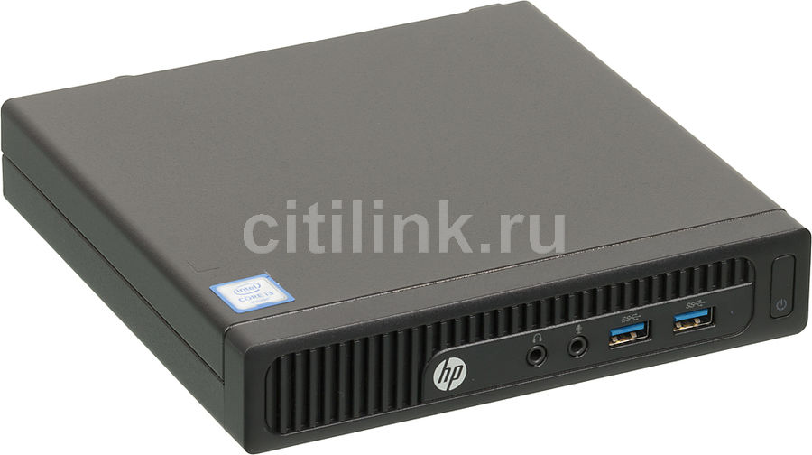Компьютер  HP 260 G2,  Intel  Core i3  6100U,  DDR4 4Гб, 256Гб(SSD),  Intel HD Graphics 520,  Windows 7 Professional,  черный [x9d61es]