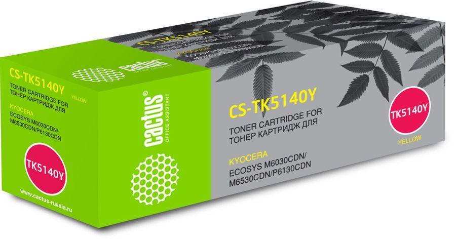 картридж CACTUS CS-TK5140Y желтый