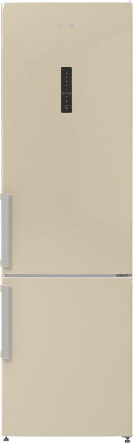 Холодильник GORENJE NRK6201MC-0,  двухкамерный, бежевый/серебристый